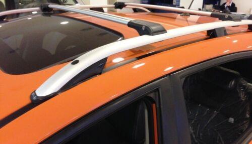 VW TOURAN 2003-2010 LOCKABLE ALUMINIUM CROSS BAR RACK 75 KG LOADING GREY