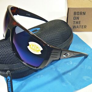 15ab145cc6 Image is loading Costa-Del-Mar-Hamlin-Polarized-Sunglasses-Tortoise-Frame-