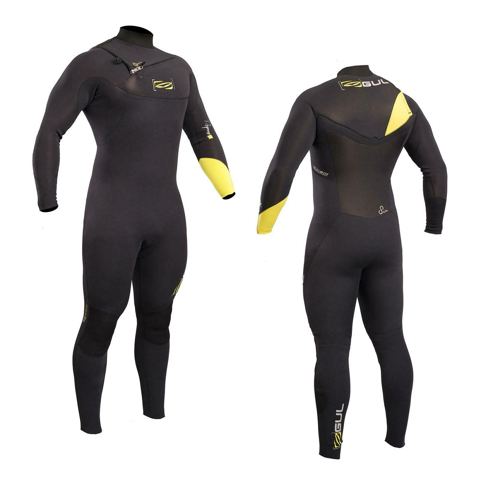 Gul men Response Fx 3 2 Cerniera Torace Vapore - black Lime Nuoto Surf