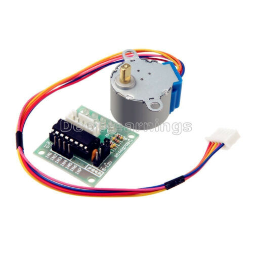 12V Stepper Motor 28BYJ-48 With Drive Test Module Board ULN2003 5 Line 4 Phase