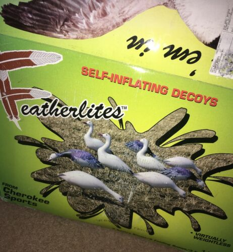 12 Pack Snow Blue Geese Decoys Featherlites by Cherokee Sports New in Open box