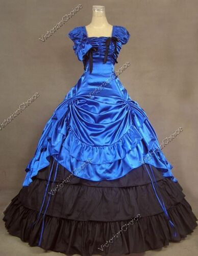 Steampunk Dresses | Women & Girl Costumes   Southern Belle Victorian Princess Prom Gown Dress Theater Steampunk Clothing 270  AT vintagedancer.com