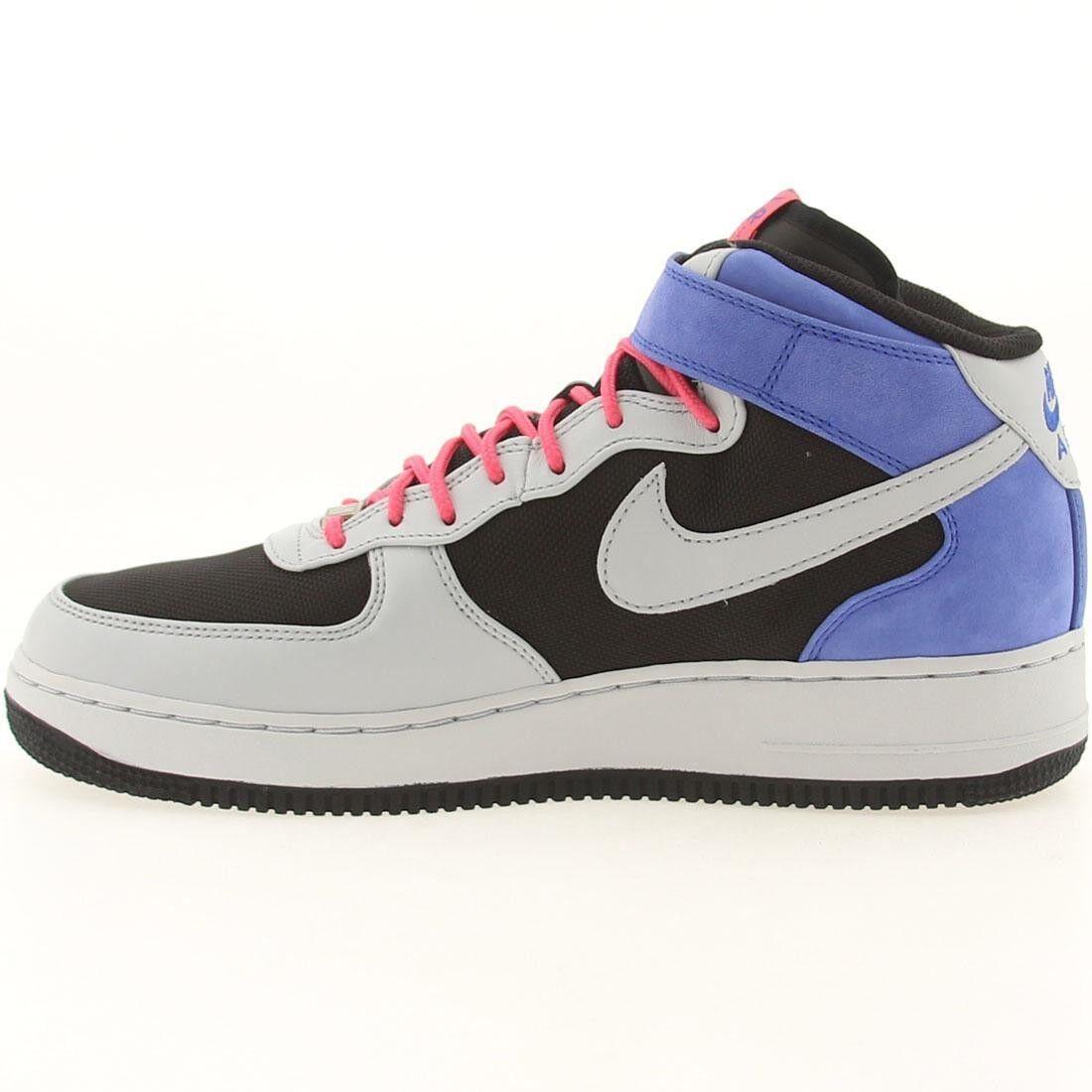 Nike Air Force 1 Mid Premium Black Grey Royal Flamingo