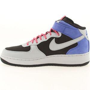 316670-001 Nike Air Force 1 Mid Premium Black Grey Royal Flamingo