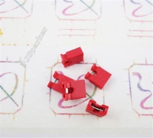 300Pcs Mini Short Circuit Cap Connection Red 2.54MM Jumper Cap New Ic nw