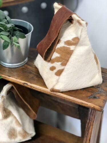 Cow hide cuir et porte marron Stop Home Decor-fait à la main dans Cambridgeshire.