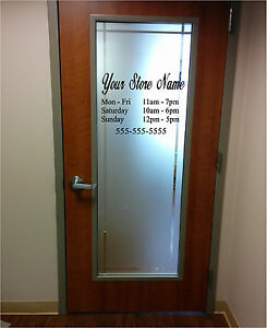 Custom Business Store Office Hours Sign Vinyl Sticker X - Vinyl stickers for glass doors