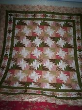 "A Pretty Modified Tequila Buzz Pattern Bed Quilt Top - 85"" x 95"" approx"
