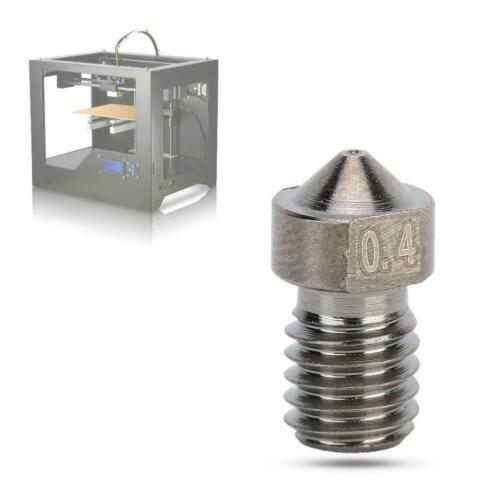 10PCS 3D Printer V6 Hardened Steel 3D Printer 0.2mm//0.3mm//0.4mm//0.5mm Nozzle FTB