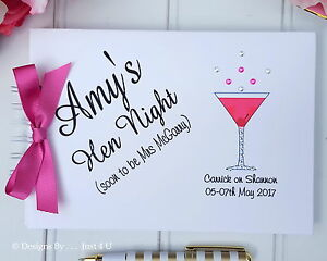 Image Is Loading Personalised Las Hen Do Night Guest Book
