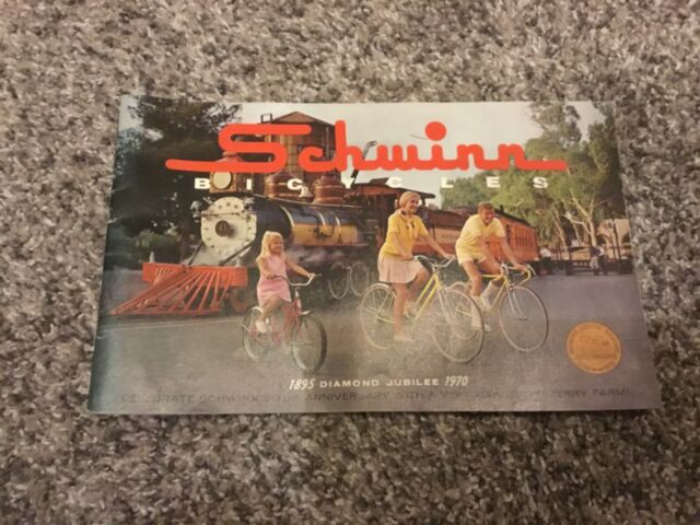 Schwinn Bicycles 1895 Diamond Jubilee 1970 75th Anniversary Brochure 47p Booklet