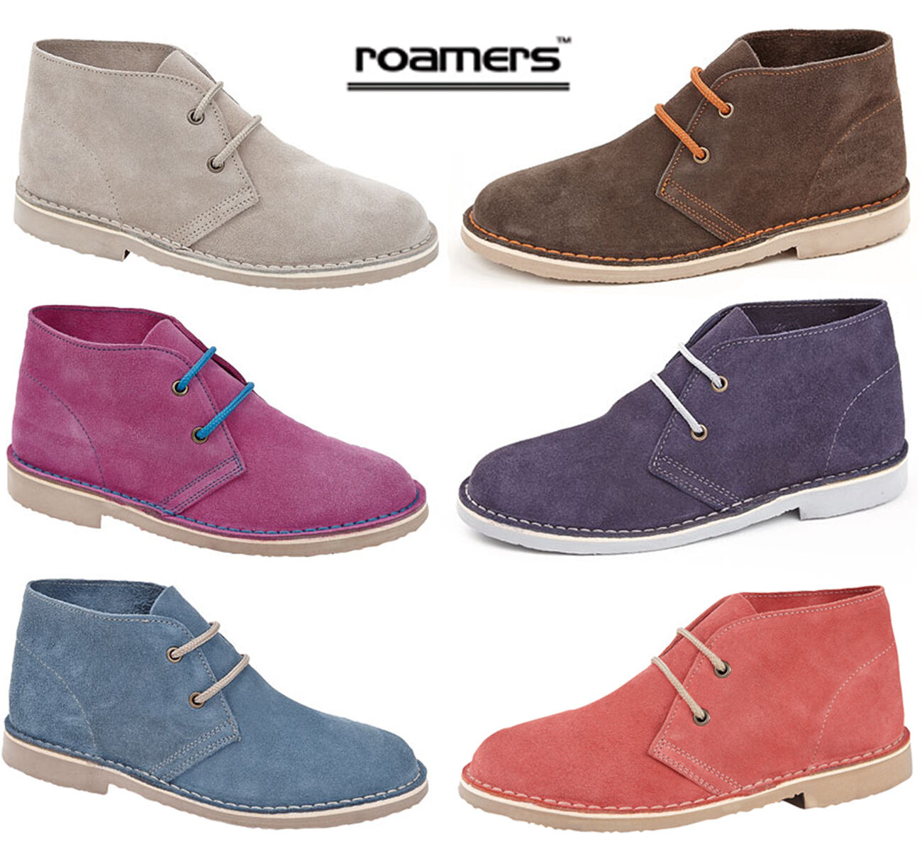 Womens Ladies Desert Boots Suede Leather Sizes 3 4 5 6 7 8