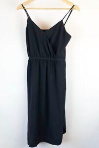Madewell-Women-039-s-Dress-Size-4-Black-slip-on-dress-Spaghetti-straps