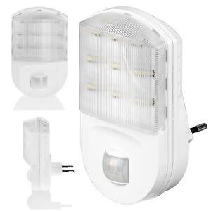 led nachtlicht mit bewegungsmelder f r steckdose lampe notlicht 9 led ebay. Black Bedroom Furniture Sets. Home Design Ideas