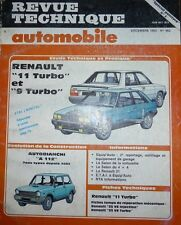 Revue technique RENAULT 11 TURBO + 9 TURBO PHASE 1 + ZENDER N° 462 1985 A112