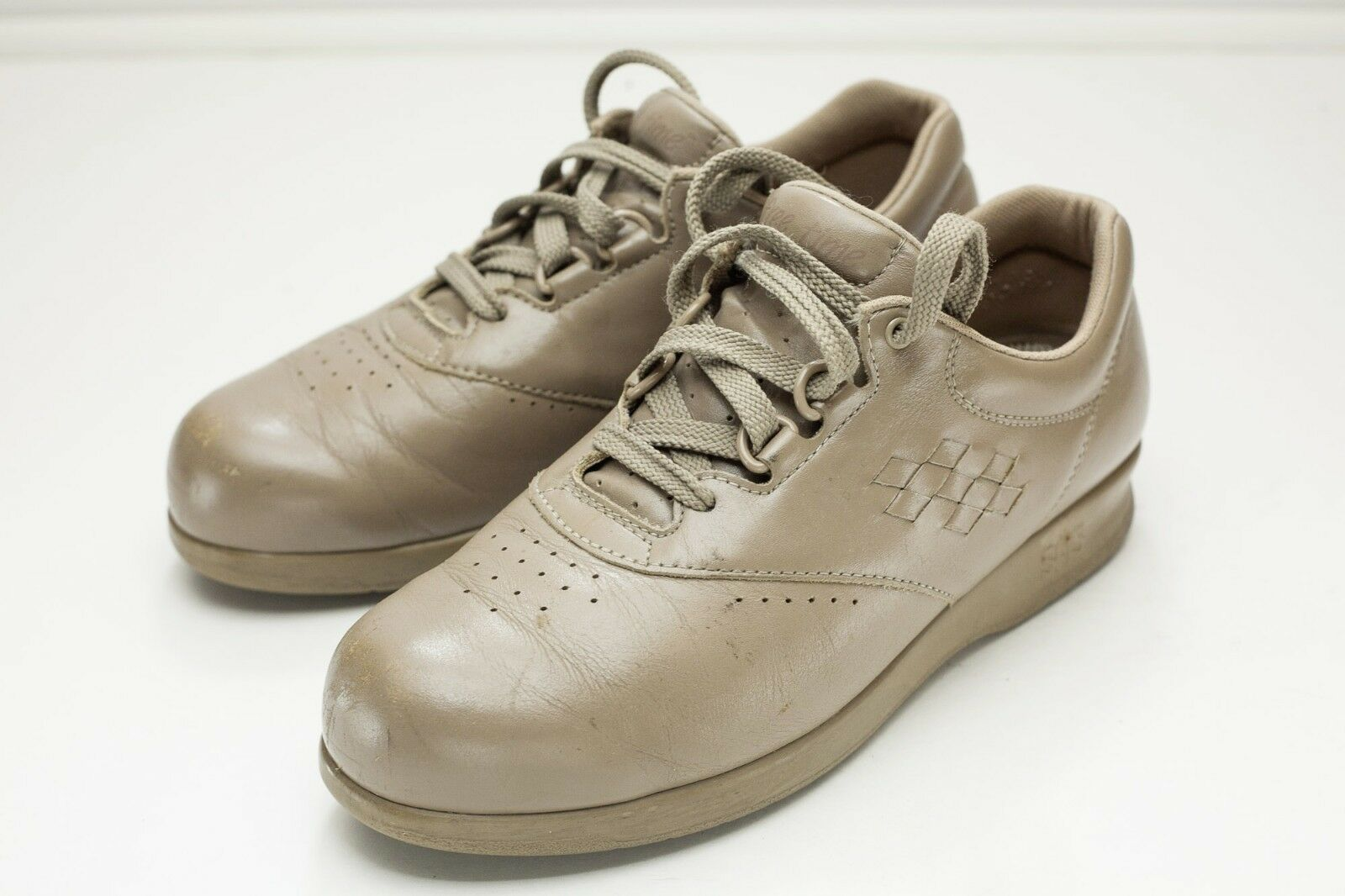 SAS Free Time 7 Taupe Lace Up Women's shoes