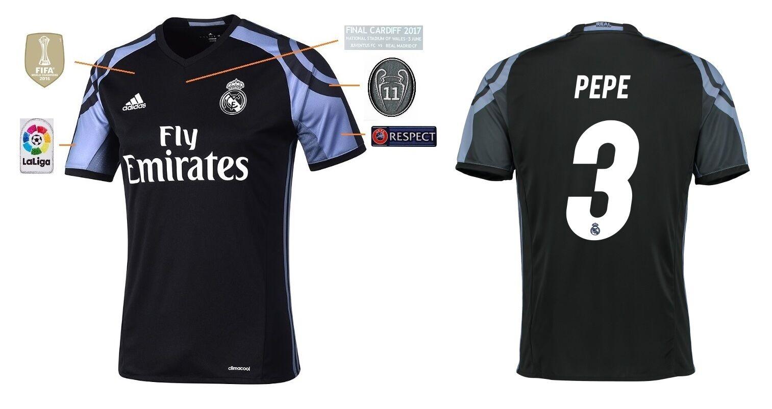 Trikot Real Madrid Third Champions League Final Cardiff 2017 - Pepe