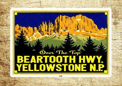 "Yellowstone National Park Decal Sticker 3.75/"" x 2.55/"" Beartooth Highway"