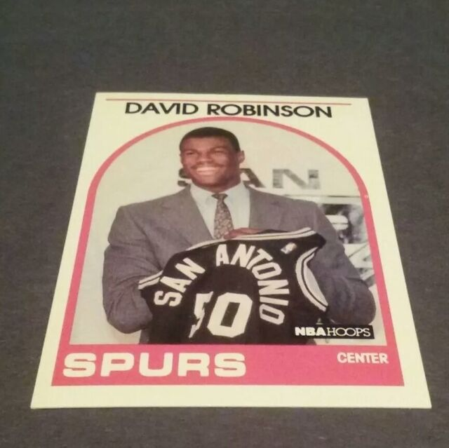 1989 90 Nba Hoops 138 David Robinson Rc Holding Jersey Spurs Rookie Card D Ebay