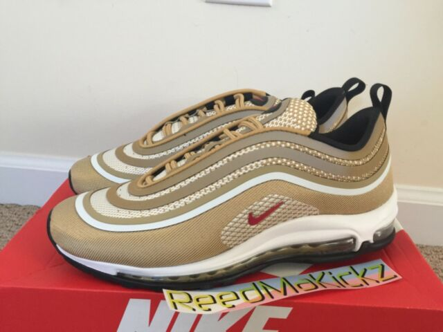 Nike Air Max 97 Ultra 17 Shoes Us12 EUR 46 Metallic Gold Varsity Red 918356 700