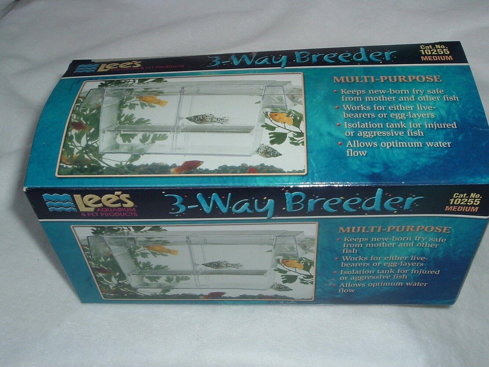 3 Way Aquarium Guppy Fish Breeder Fry Divider Isolation Tank Lee S For Sale Online Ebay