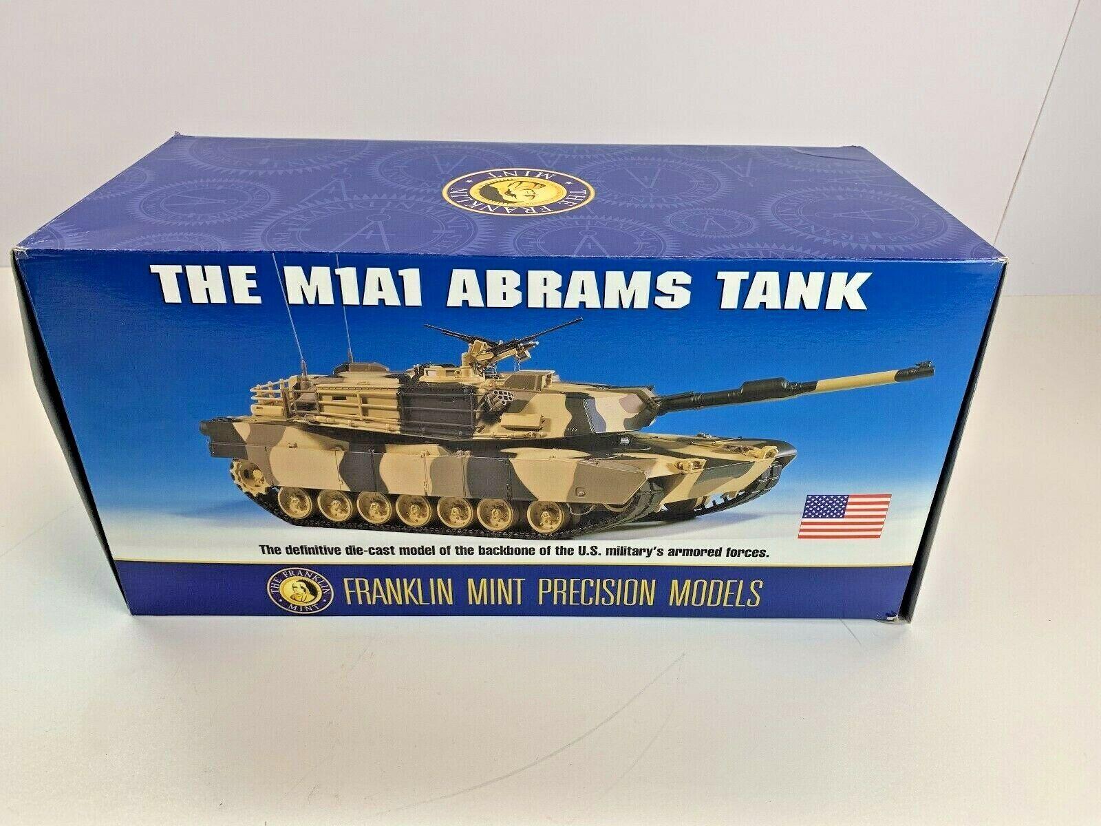 Franklin Comme  neuf Precision Models M1a1 abrams Tank Camo DIE CAST B11B815 échelle 1 24  limite acheter