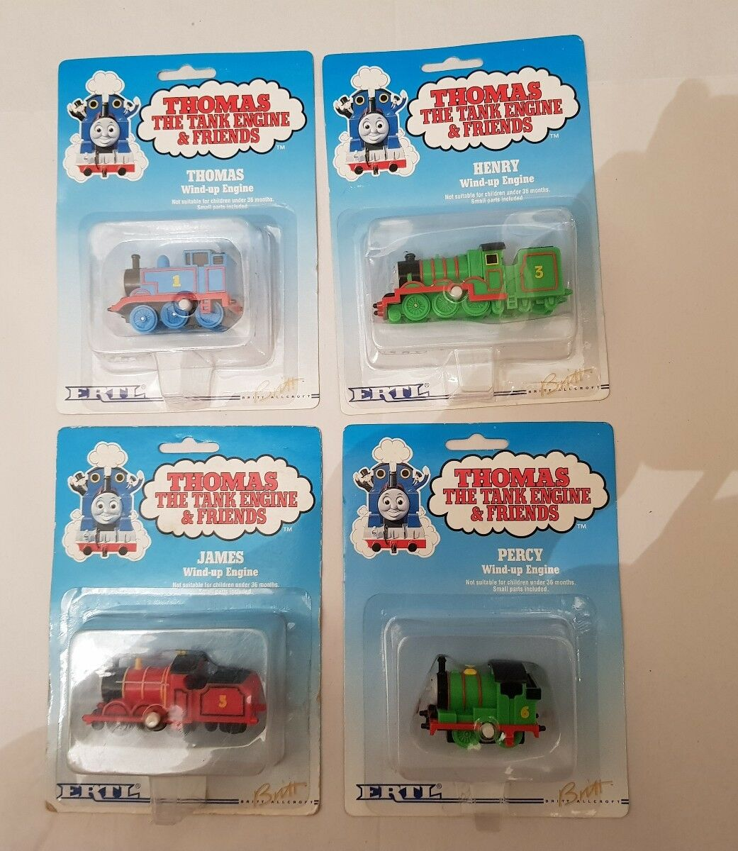 Thomas The Tank & Friends ERTL WIND UPS X 4 INC JAMES PERCY HENRY NEW AND SEALED