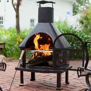 Charming Image Is Loading Outdoor Fireplace Patio Fire Pit Wood Burning Pit