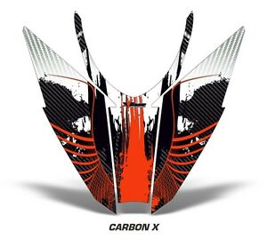 Sled-Hood-Graphics-Kit-Decal-Wrap-For-Arctic-Cat-Pro-Climb-Cross-12-16-CRBNX-RED