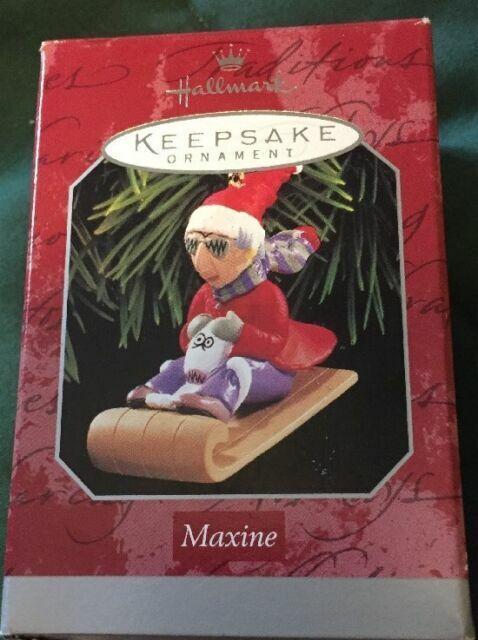 Hillside Express Whimsical Christmas Christmas decor Hallmark Sledding Ornaments Maxine Hallmark Keepsake Ornaments Hallmark Xmas