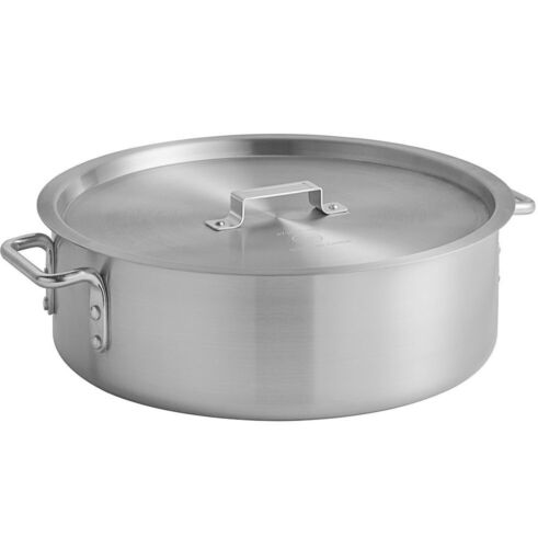 Standard Weight Aluminum Brazier NSF Durable Commercial Pot with Lid 18 Qt