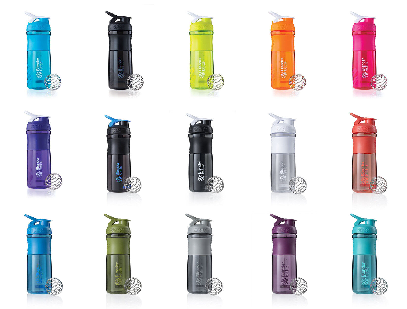 BlenderBottle SportMixer Tritan Grip Shaker Bottle, 2 Sizes, 28 colors