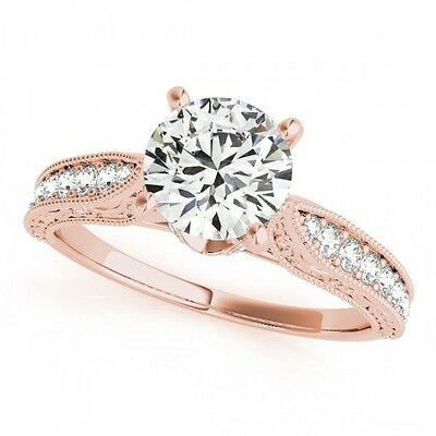 3001. 1.5 CTW Certified VS/SI Diamond Solitaire Bridal Ring 18K Rose Gold ... Lot 3001