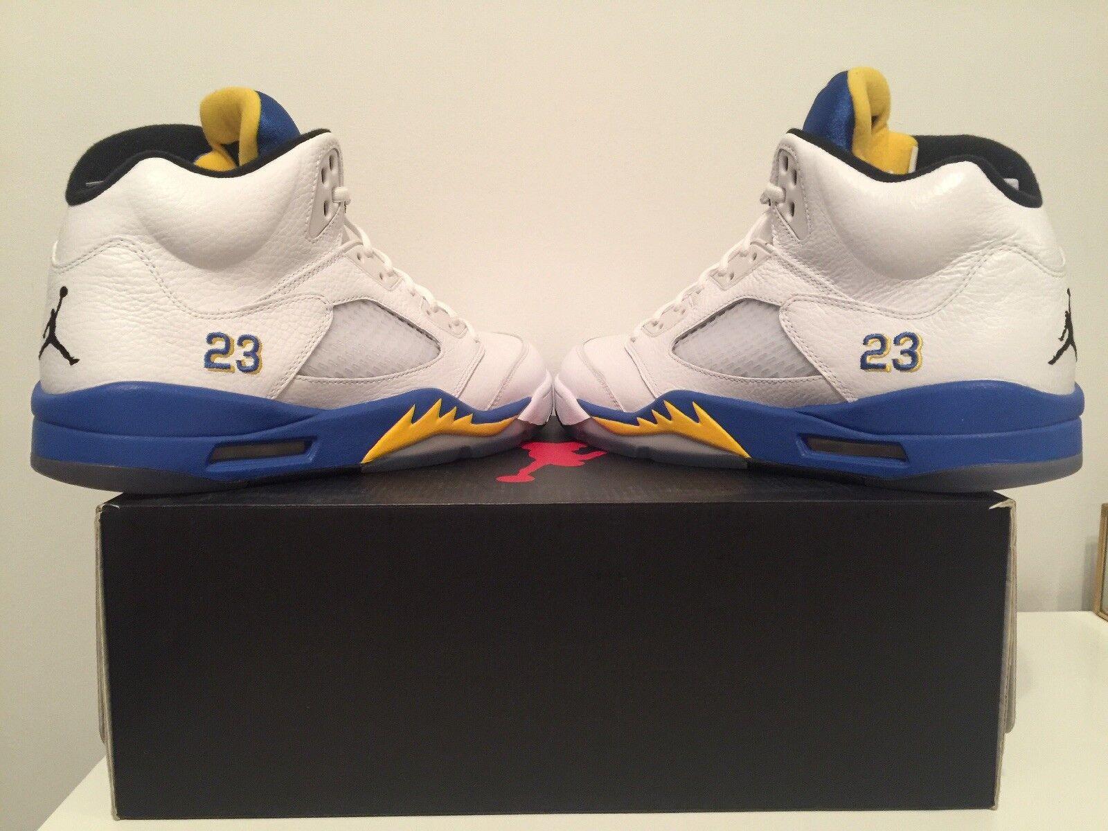 Nike Air Jordan V 5 Retro LANEY BUCS WHITE ROYAL blueE MAIZE BLACK 136027-189 10