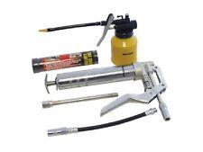 New Mini Pistol Grip Grease Gun Cartridge Kit & Oil Lubricant Lube Can Set UK