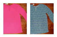 Gap Women's 3/4 Sleeve Top Shirt Tie Neck Size S M Xl
