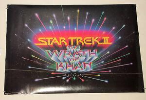 Original-1982-Star-Trek-ll-The-Wrath-of-Khan-31-by-22-inch-movie-poster-1980-039-s