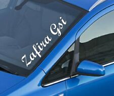 Zafira gsi pare-brise côté soleil rayure graphique 14x60cm decal sticker vinyl blanc