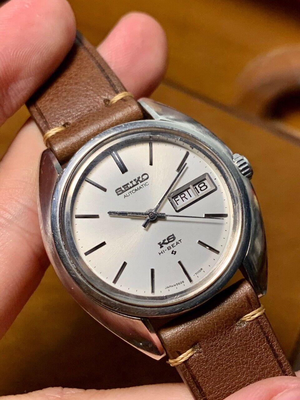 Image 1 - Vintage 1970s KING SEIKO 5626 SS Hi-Beat Automatic Men's Watch.