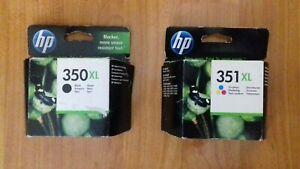GENUINE-HP-350XL-CB336EE-BLACK-amp-351XL-CB338EE-TRI-COLOUR-INK-CARTRIDGES-SET-NEW