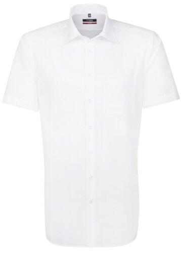 Uomo Seidensticker moderno Manica corta Camicia-Bianco