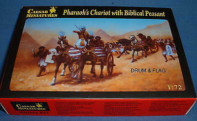 CAESAR SET #42 - PHAROAH'S EGYPTIAN CHARIOT WITH BIBLICAL PEASANT. 1/72 SCALE