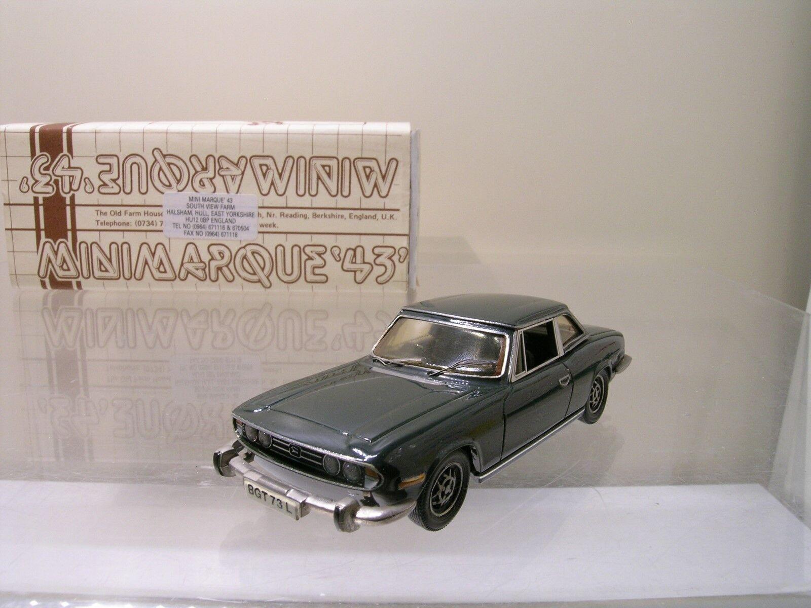 MINIMARQUE43 B TRIUMPH STAG H.T.1970 BRG blancooMETAL FACT. HANDB. +BOX 1 43