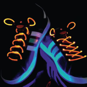 c8c9c7d72c546 Details about 2 Pack Light Up LED Shoe Laces Party Disco Flashing Colour  Glow - Orange