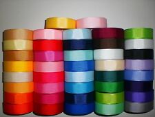 WHOLESALE 5/8'' GROSGRAIN RIBBON LOT 84 YARDS SOLID COLORS USA SELLER RE9789