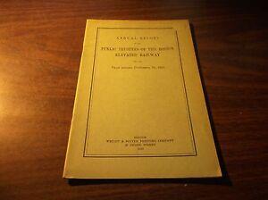 1922 BOSTON ELEVATED RAILWAY COMPANY TRUSTEES REPORT