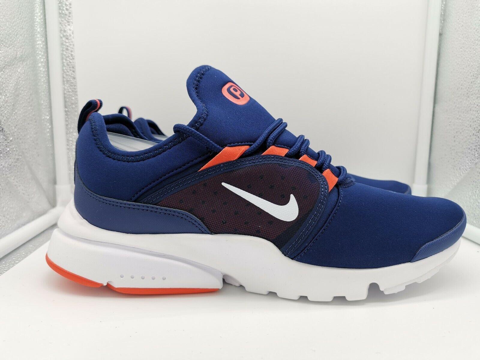 Nike Presto Fly World WRLD UK 7 Blau Void Weiß Team Orange AV7763-401