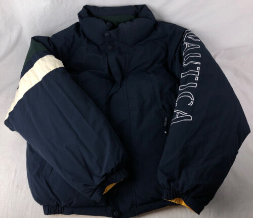 Nautica Down Jacket 90s L Puffer Coat Spell Out Re