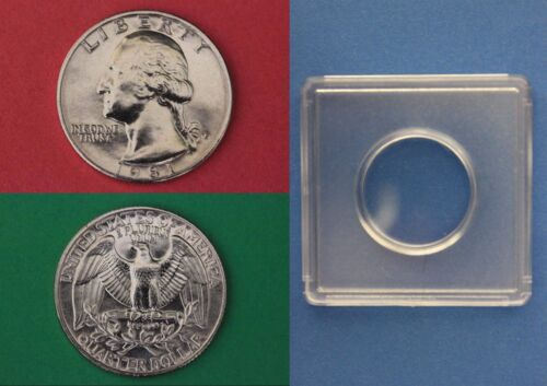 1981 P George Washington Quarter With 2x2 Snap from Mint Set Combined Shipping
