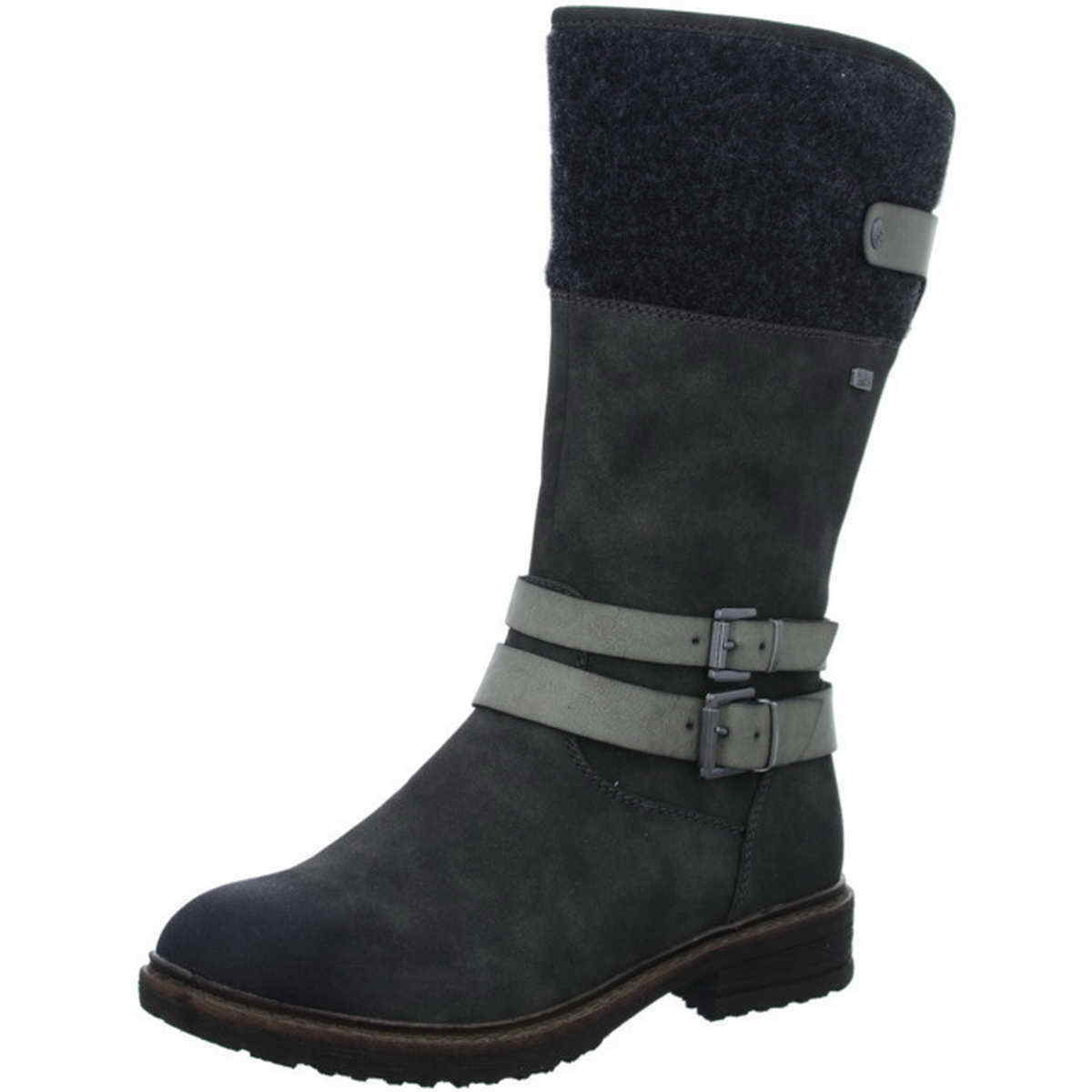 Rieker Stiefel 94772 45 anthrazit grau Warm Tex wasserdicht Reißverschluß